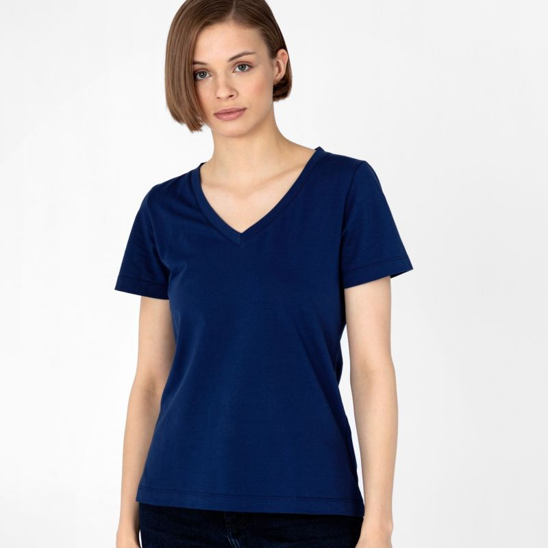 Women's V-Neck T-Shirt Navy image