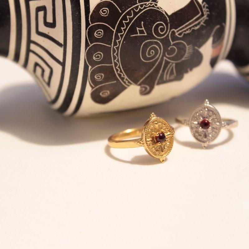 Hellenistic Greek Garnet Ring image