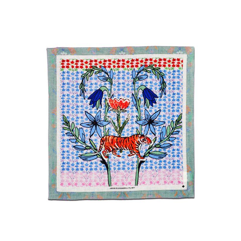 Linen Table Napkin - Tiger Folk image