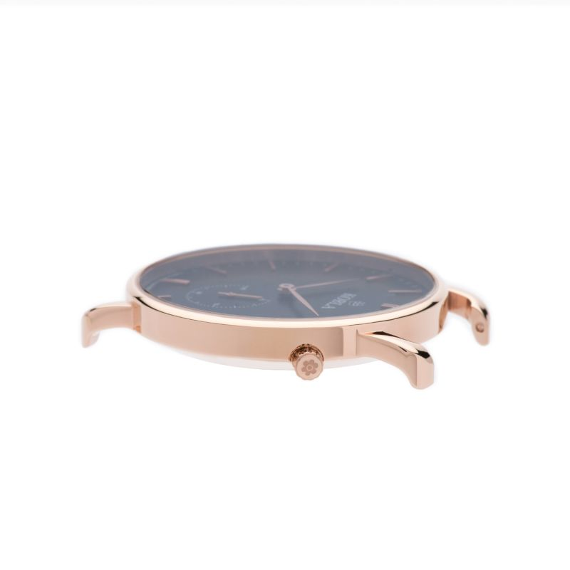 Rose Golden Case / Black Dial / Khaki Suede Leather image