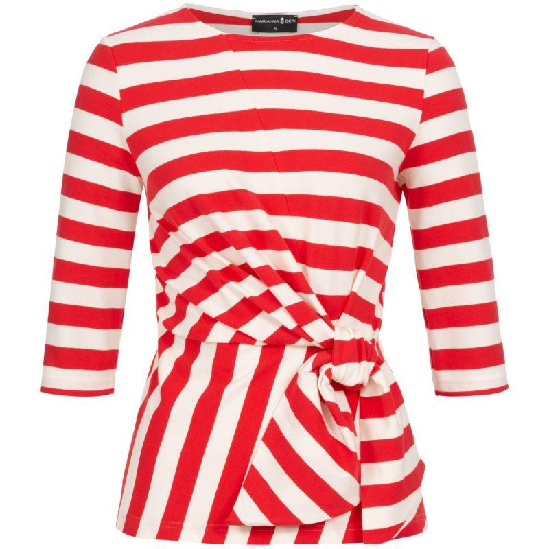 Luna Wrap Top Red Striped image
