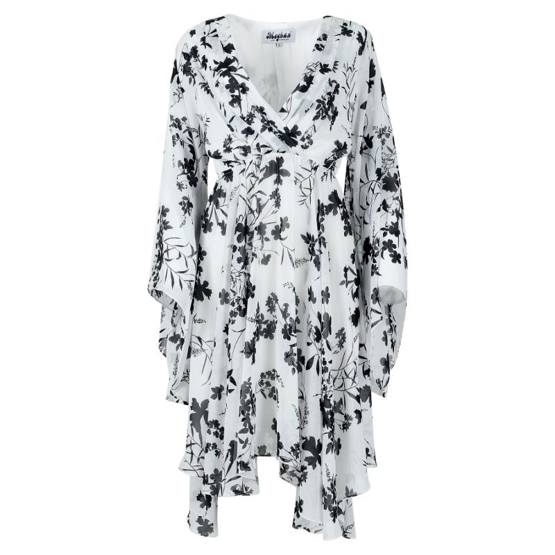 Sunset Dress - Black, White image