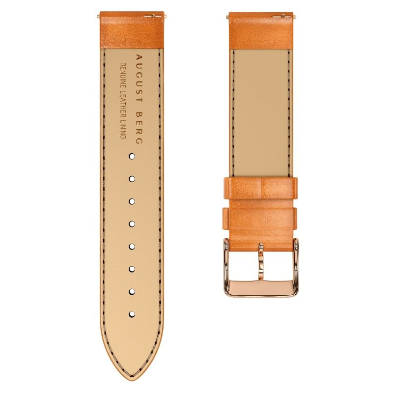 August Berg Serenity Rosegold Classic Sky Blue - Light Brown Leather 40mm image