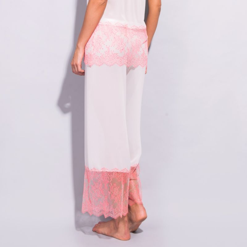 Orchid Chantilly Lace & Georgette Pantalons image