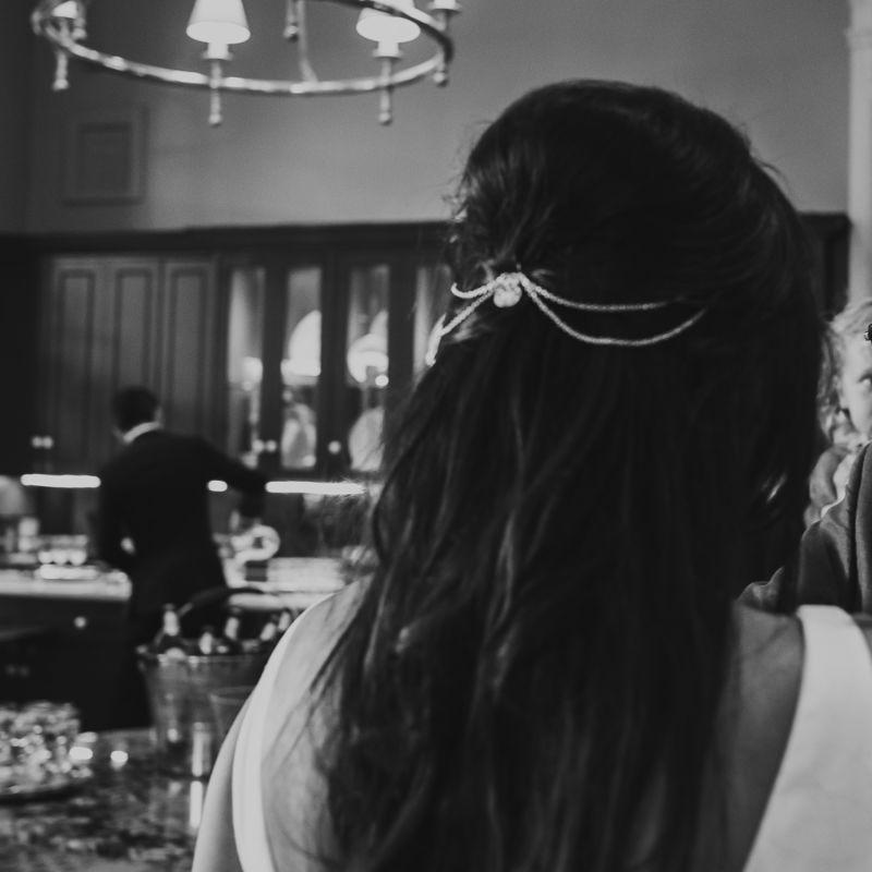 Silver Filigree Chain Hair Crown image