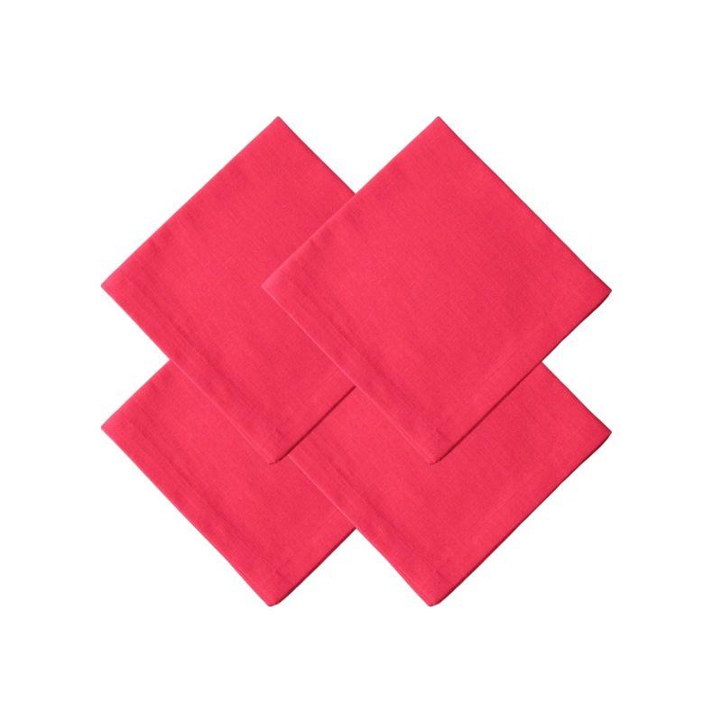Set Of 4 Red Linen Napkins image