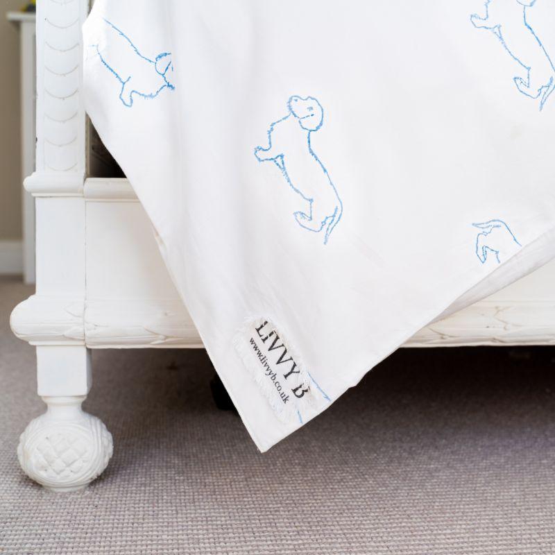 Blue Dachshund Bedding Set Single image