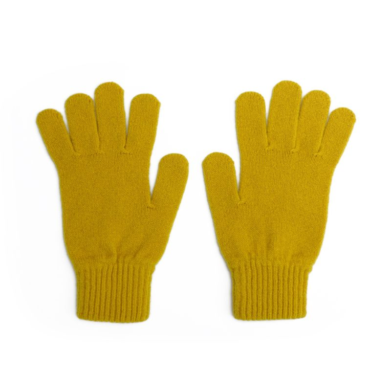 Men's Lambswool Knit Gloves In Piccalilli image