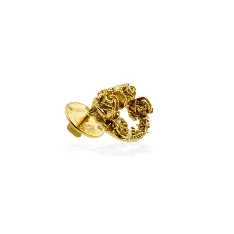 Rose Halo Lapel Pin Gold image