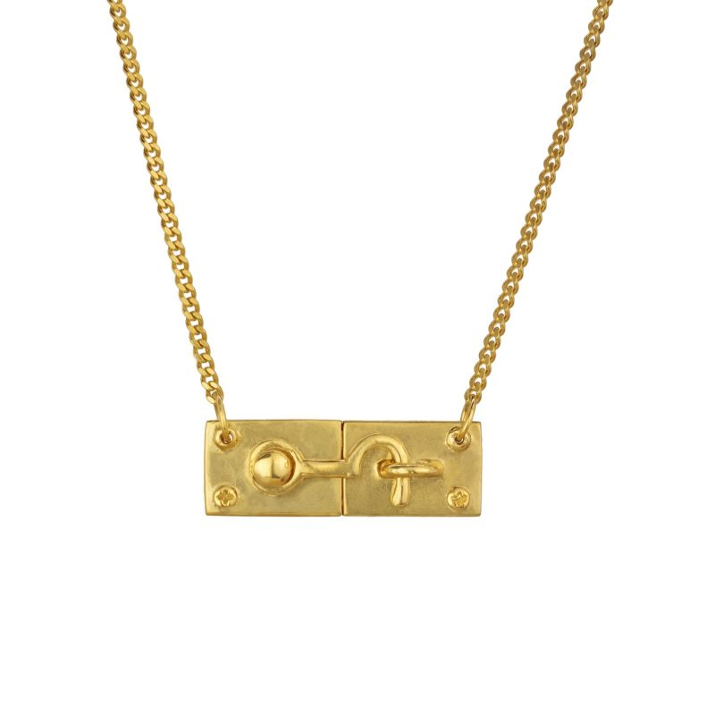 Swing Hook Necklace - Gold image