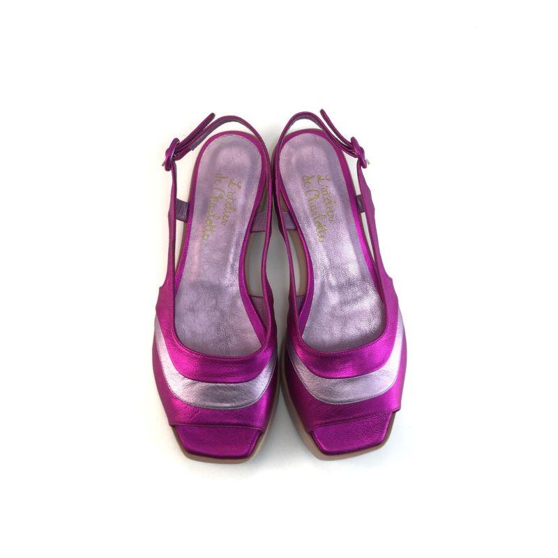 Lijadusis Metallic Pink Sandals image