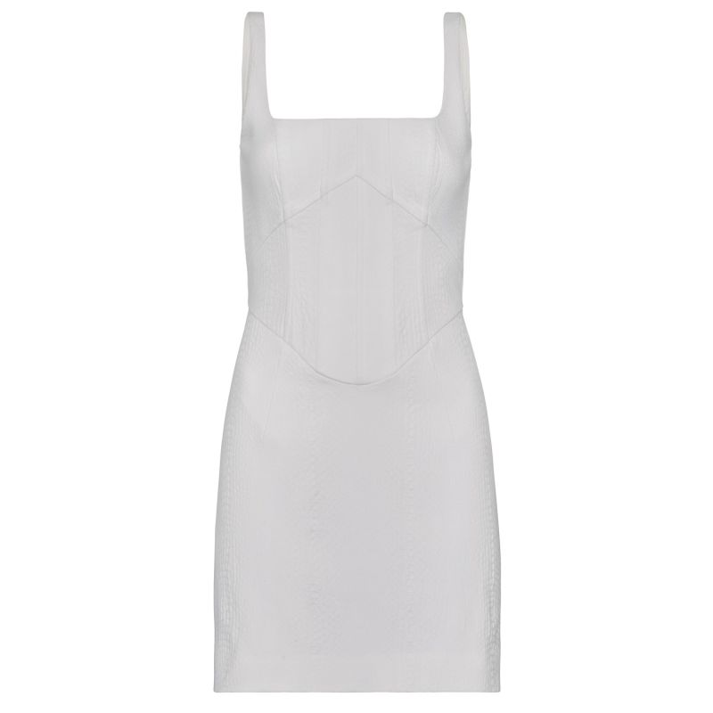 Natalia Mini Dress White image