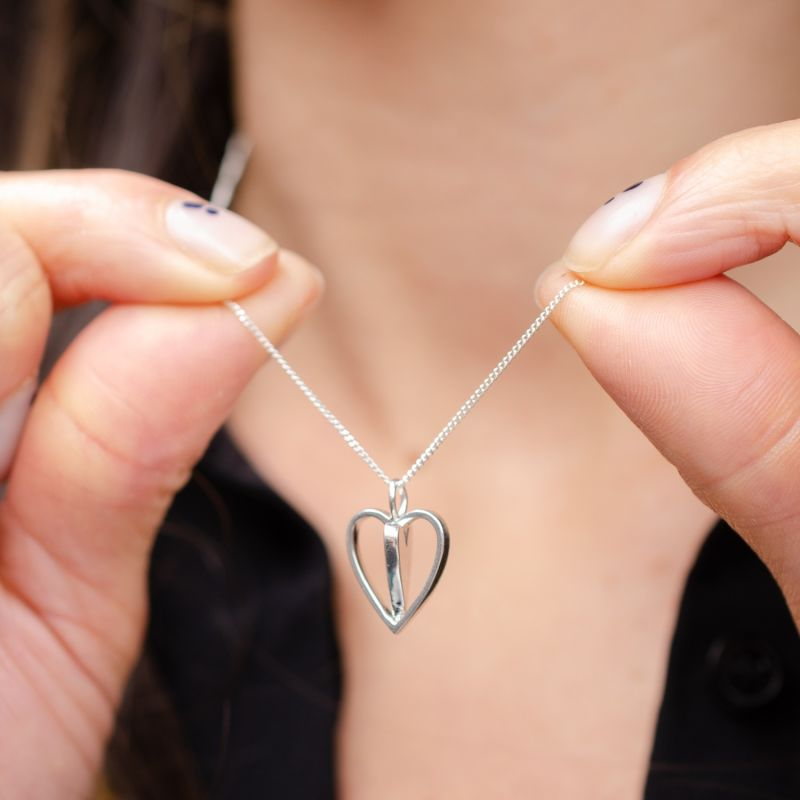 Silver Spinning Around Necklace image