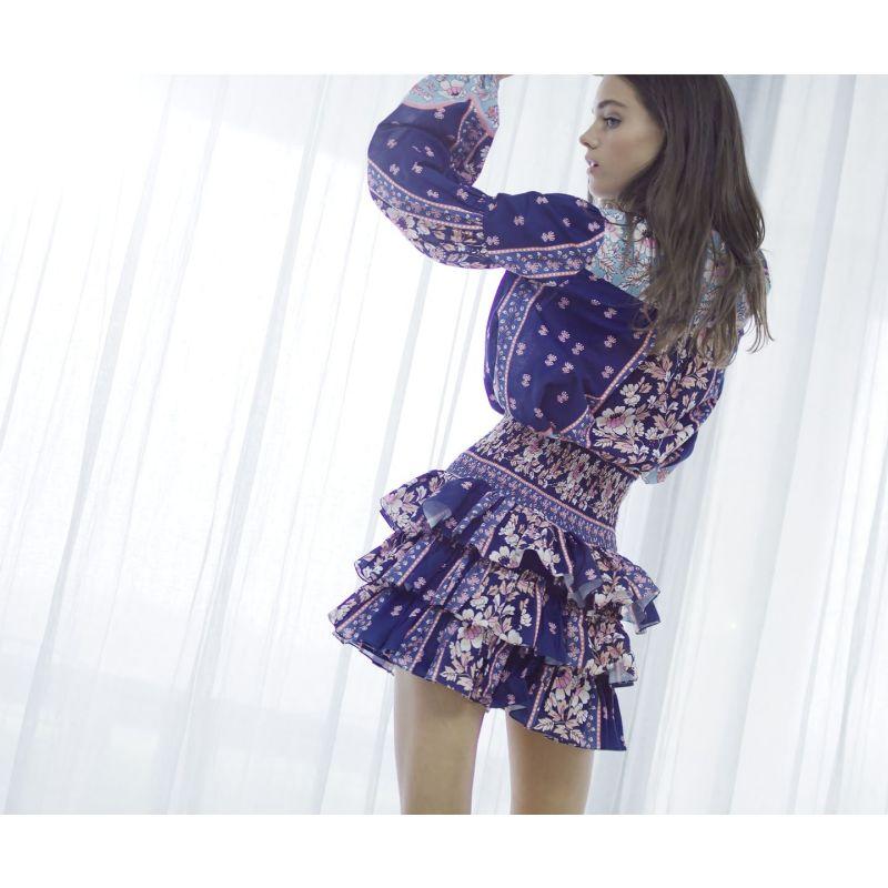 Tallulah Navy Scallop Skirt image