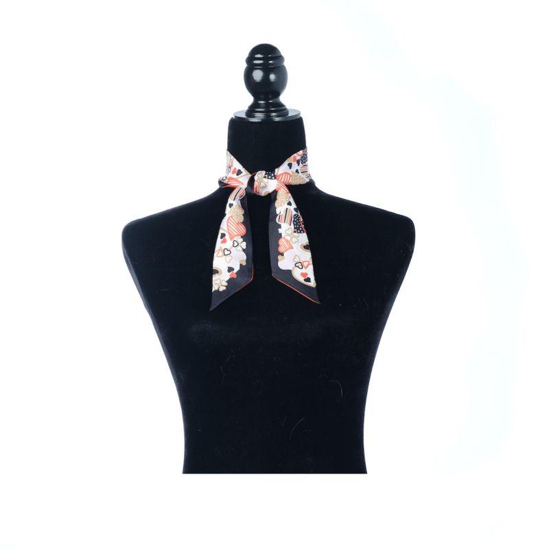 Silk Twilly Scarf Petite - Black image