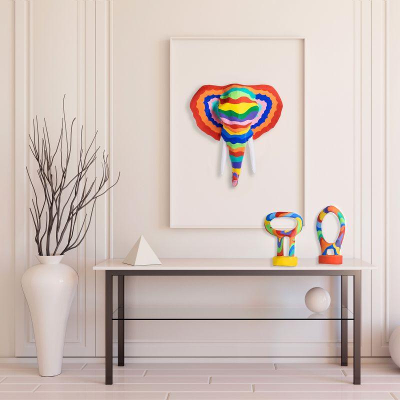 Papier Mache Rainbow Elephant image