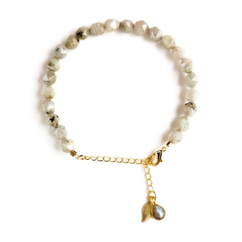 Labradorite Gold chain bracelet image