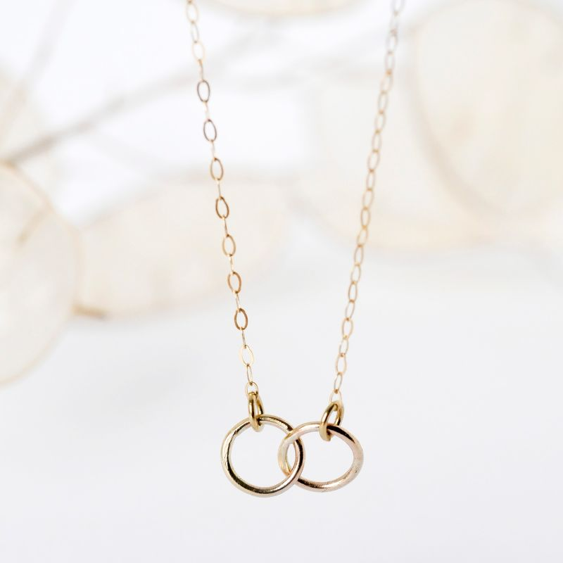 9ct Gold Connected Circle Necklace image