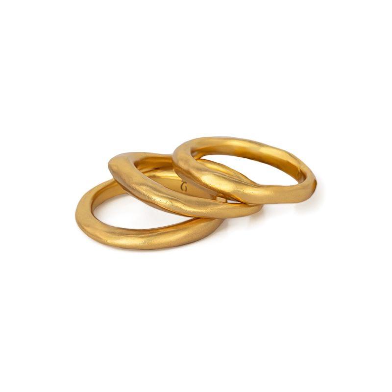 Phat Ring Stack - Gold image