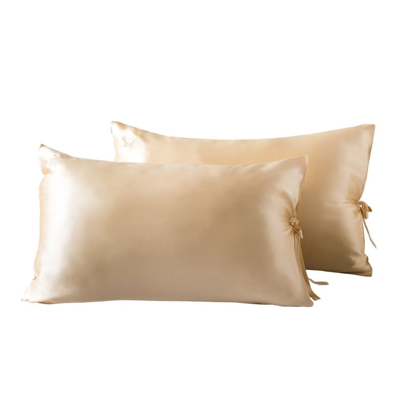 Sleeping Beauty - Classic Pure Silk Queen Size Pillowcase - Champagne image
