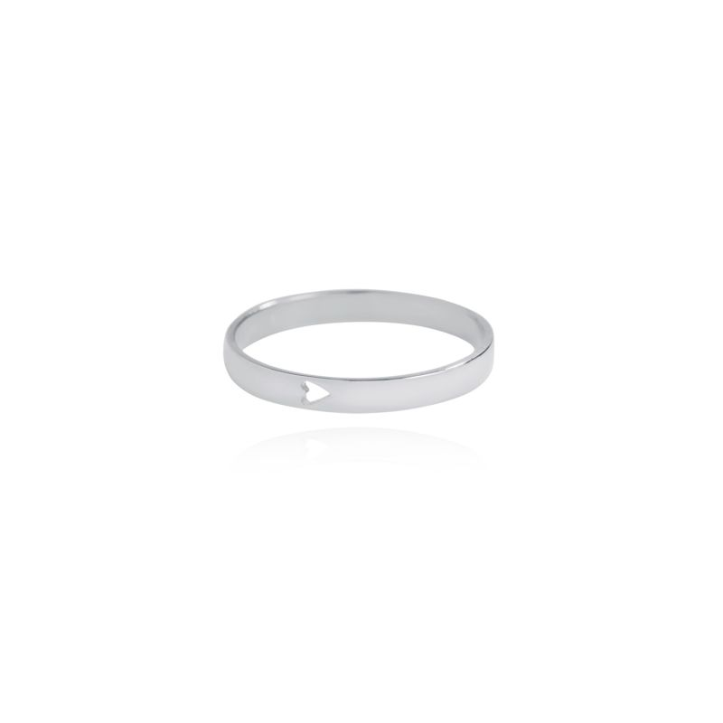 Silver Feel The Love Heart Ring image