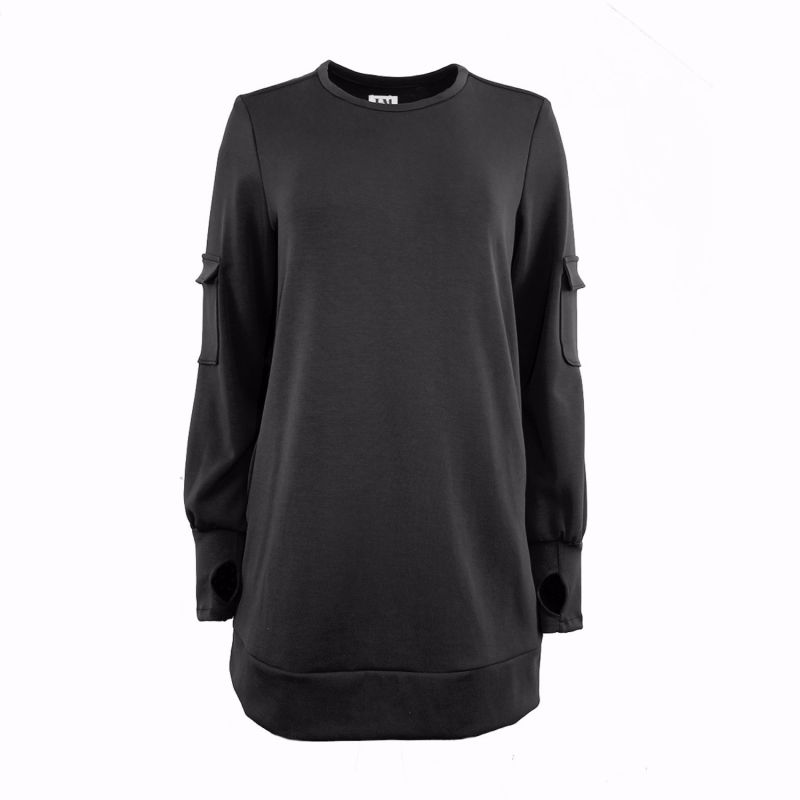 Black Crewneck Lounge Sweater image