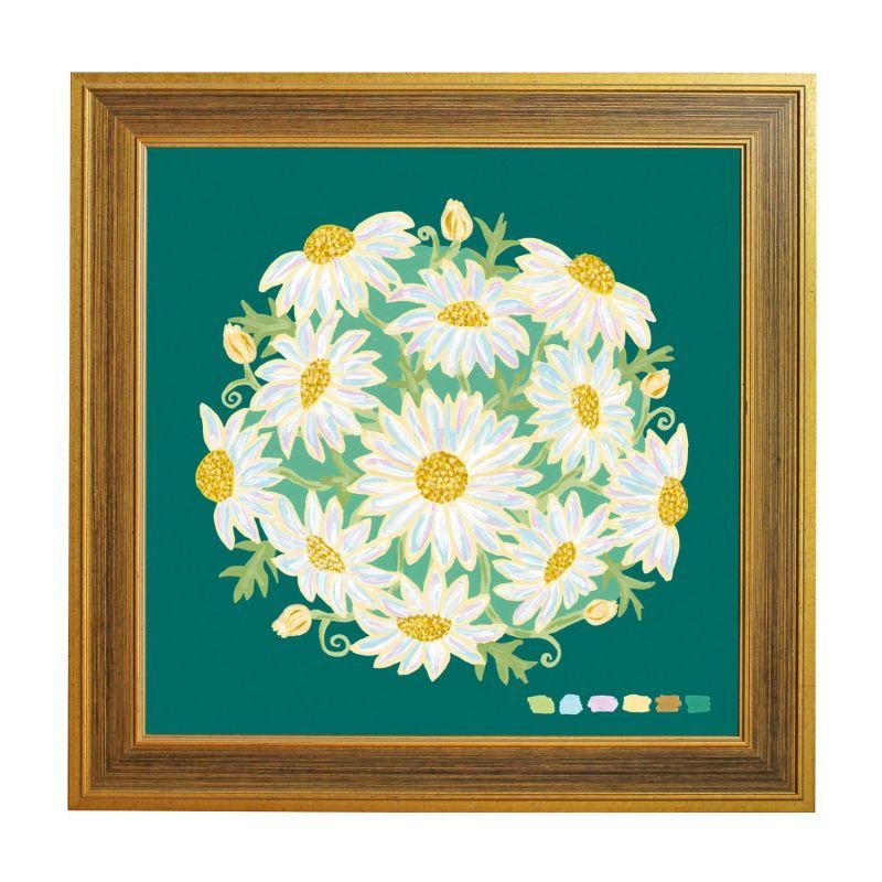 Green Daisy Bouquet Giclée Print 40X40Cm image