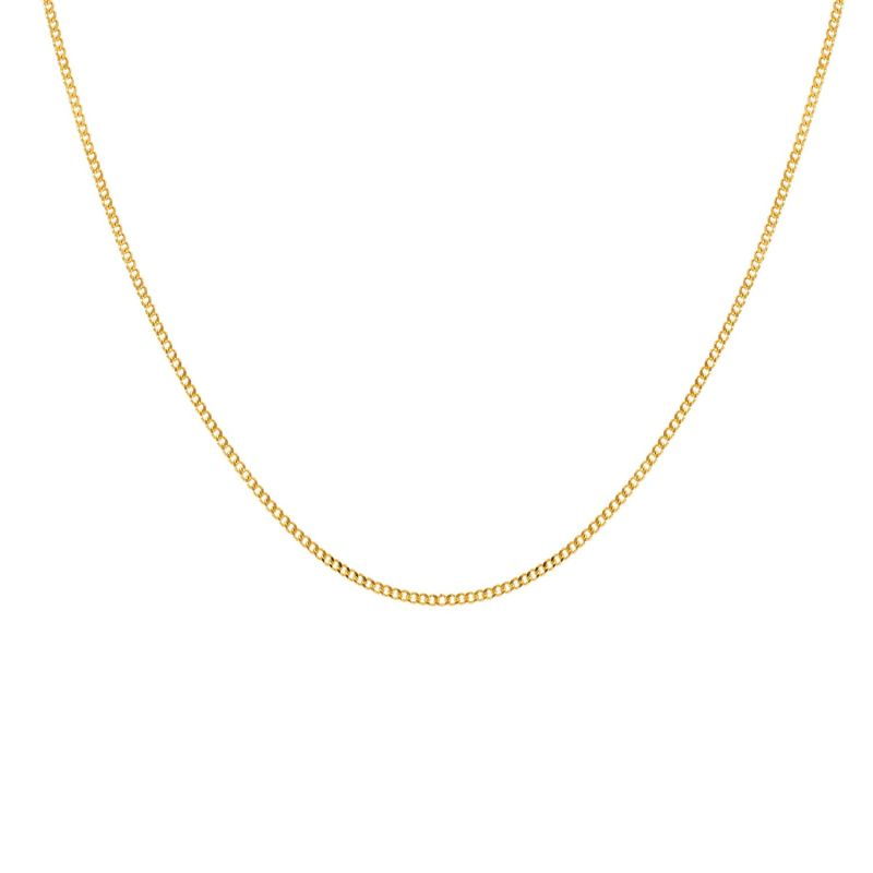 Curb Chain 2.0Mm In Gold Vermeil - A Slim Flat Link Necklace image