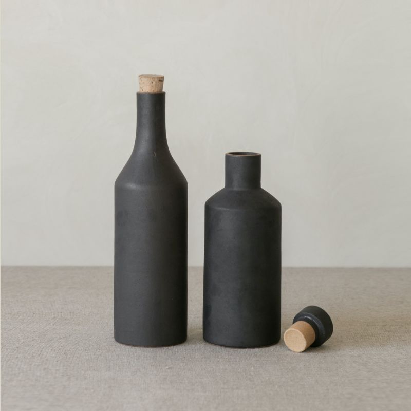 Narti Ceramic Bottle - Dark Ash image