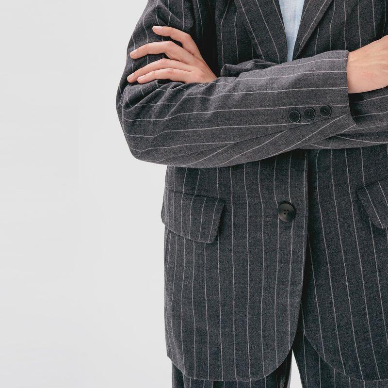 Oversized Wool Jacket Long image