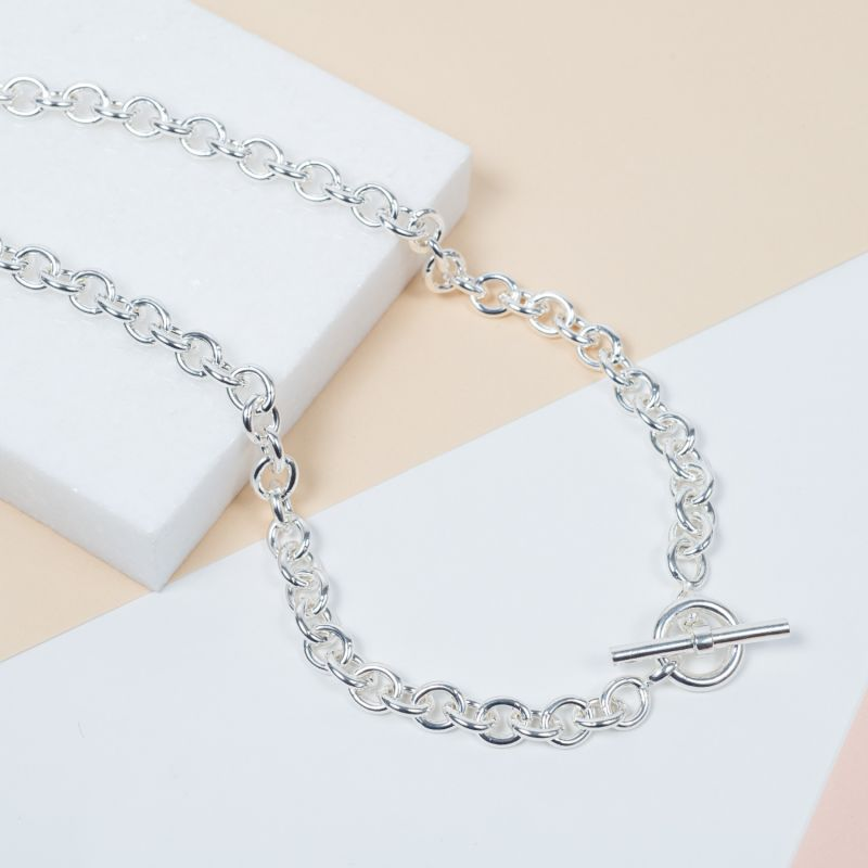 Carneby Sterling Silver T-Bar Necklace image