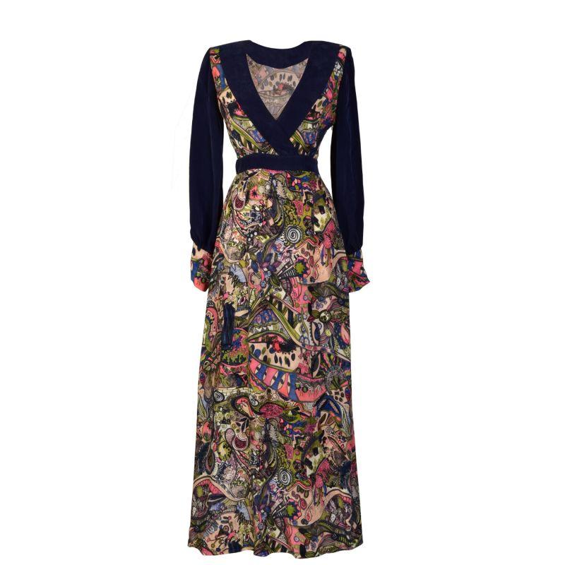 Larica Hand Painted Persian Print Maxi Dress image