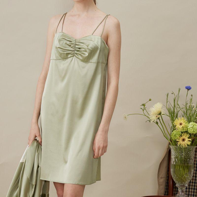 French Style Silk Slip Dress image