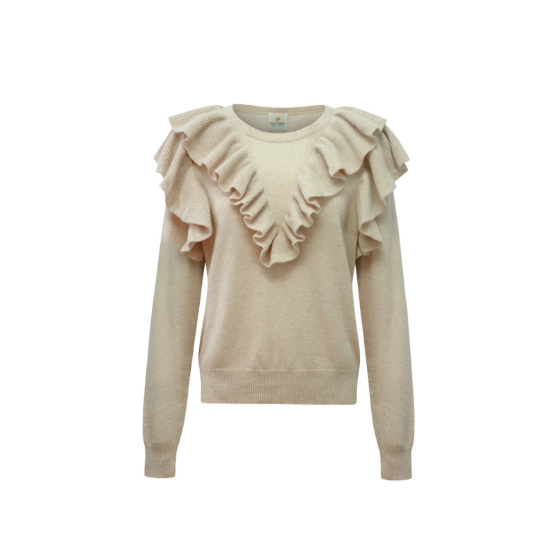 Seraphine Cashmere Sweater In Oatmeal image