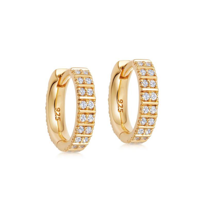 Celestial Astra Hoop Earrings in Yellow Gold Vermeil image