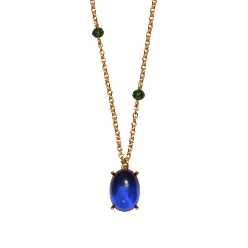 Blue & Green Glass Egyptian Necklace image