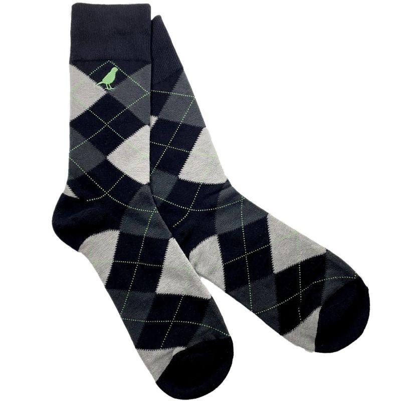 Argyle Black & Grey image