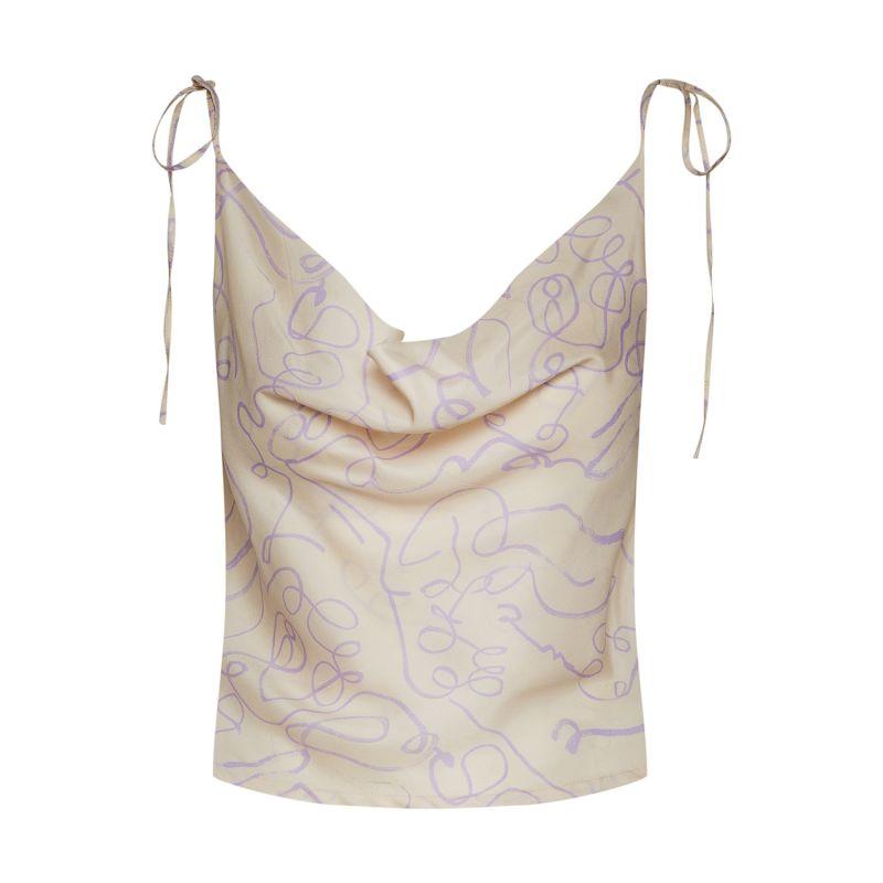 Organic Silk Cowl Neck Top image