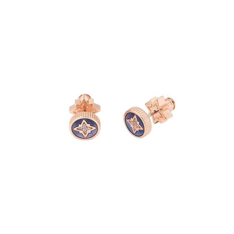 Taler Star Stud Earrings - Navy image