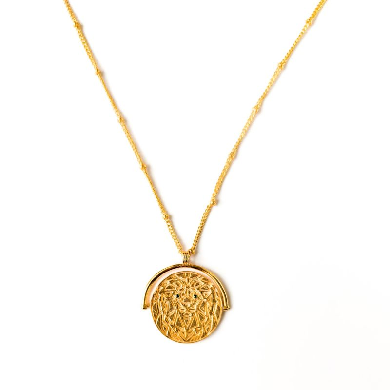 Wild Thing Lion Medallion Necklace image