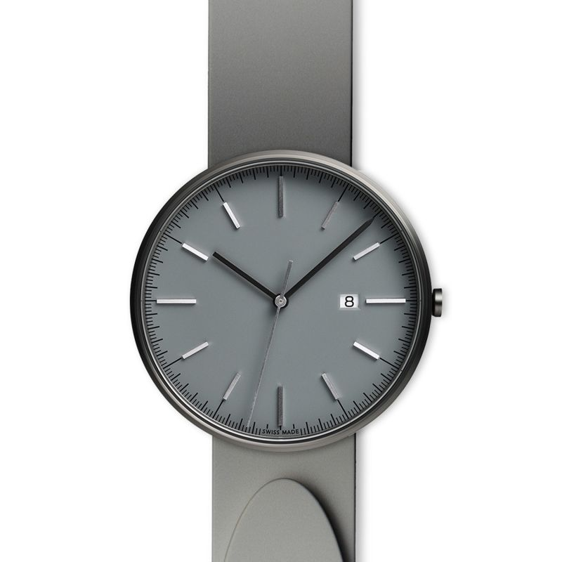 Men's M40 Precidrive Three-Hand Date Watch In PVD Grey With Nitrile Grey Rubber Strap image