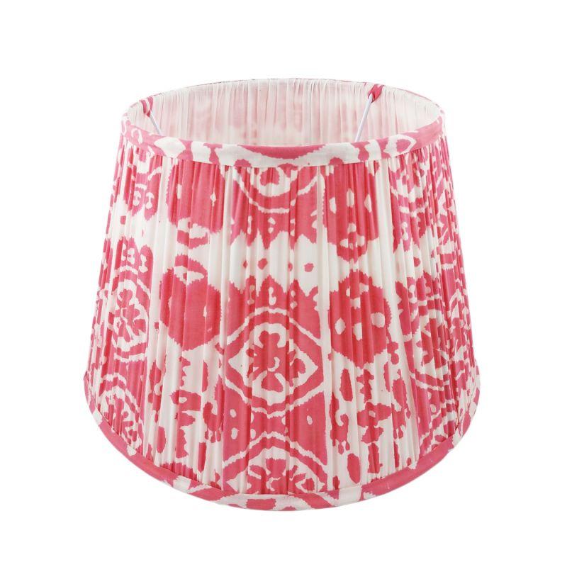 Rosa Ikat Print Cotton Lampshade 35cm image