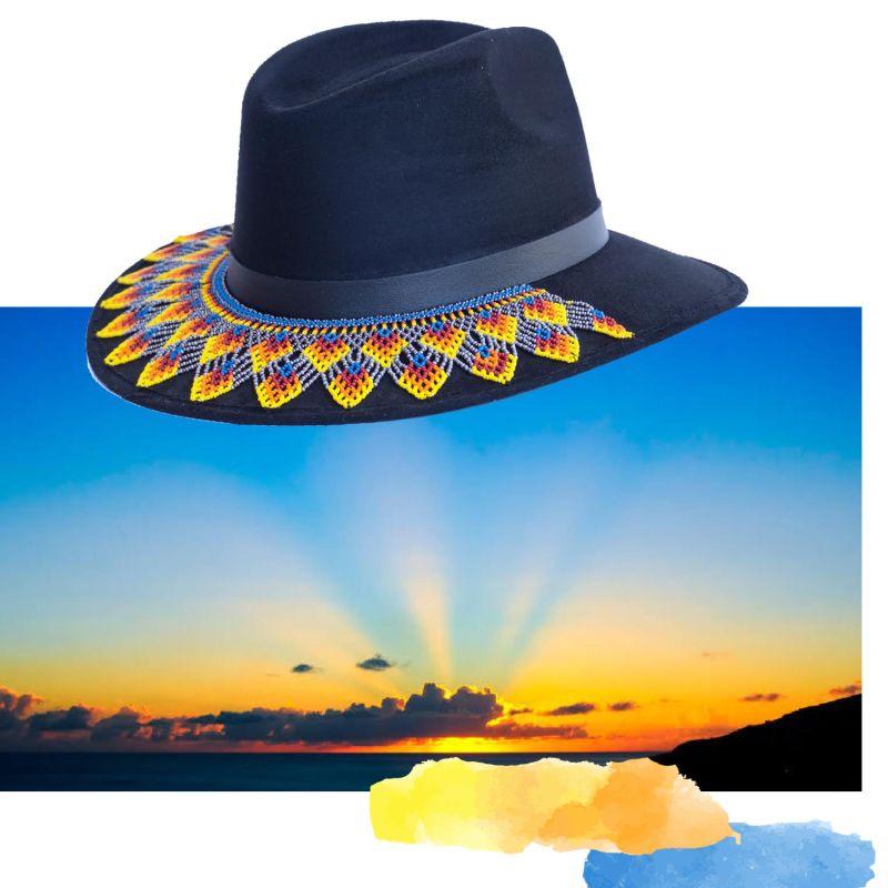 Amenecer Black Suede Hat image
