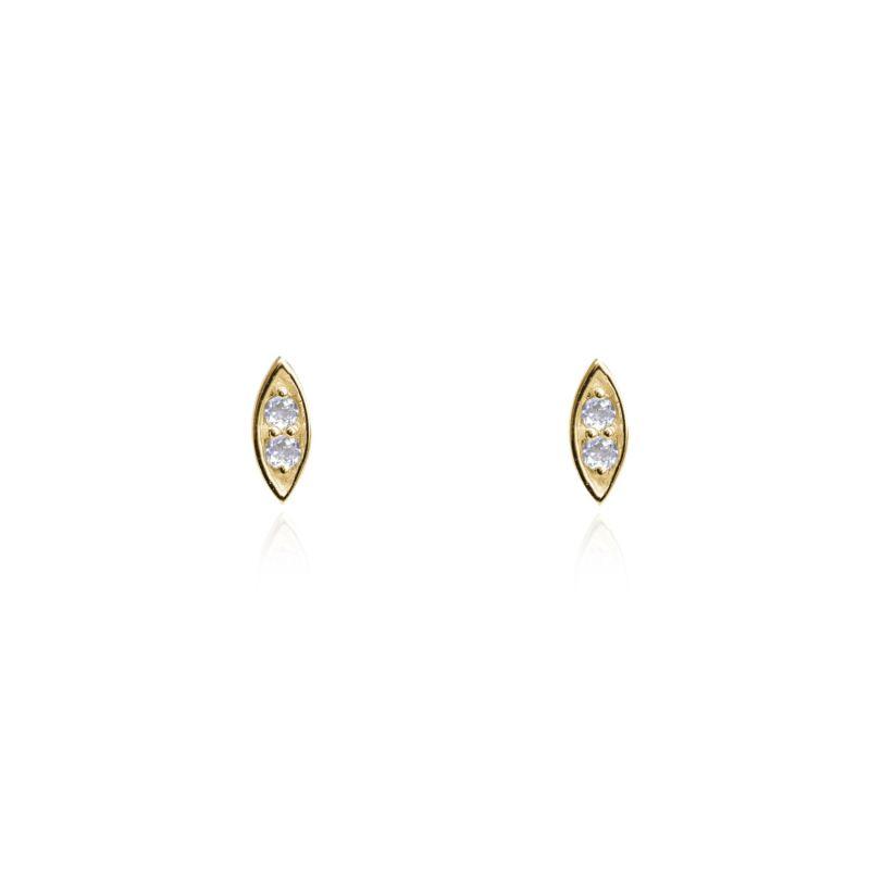 Marquise Confetti Diamond Stud Earrings Gold image