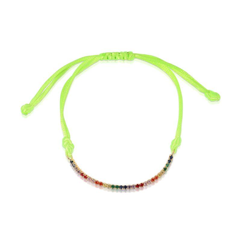 Rainbow Tennis Bracelet Neon Yellow image