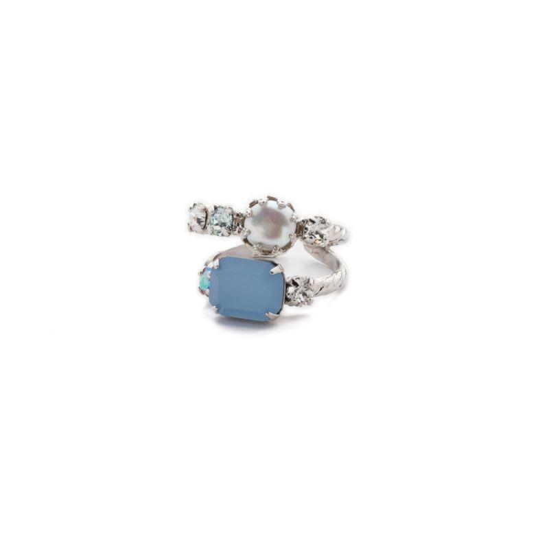 Emmanuella Stacked Ring - Nantucket Blue image