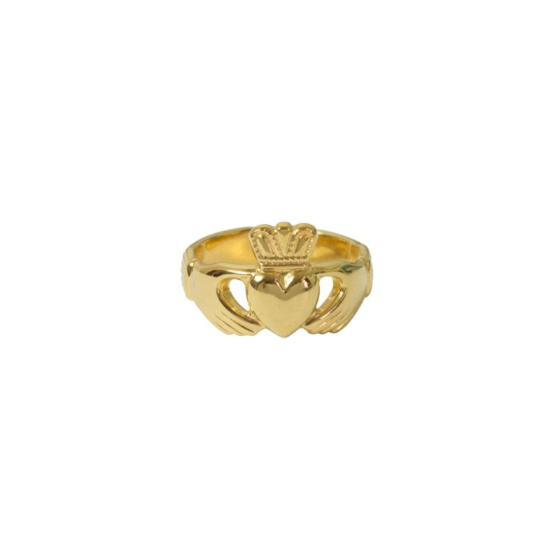 Claddagh Adjustable Ring Yellow Gold Plated image