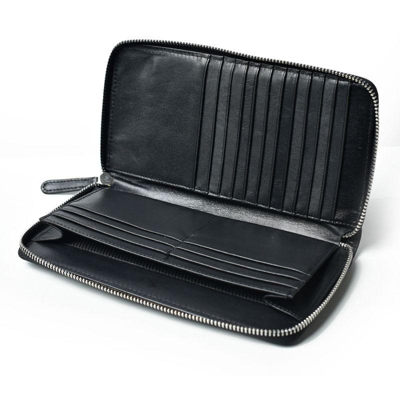Unisex Leather Wallet - Black image