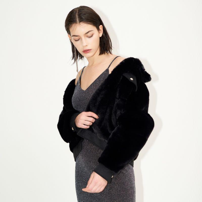 Rami Faux Fur Jacket Black image