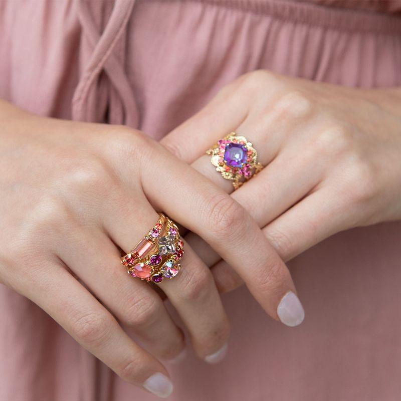 Harumi Cocktail Ring - Begonia image
